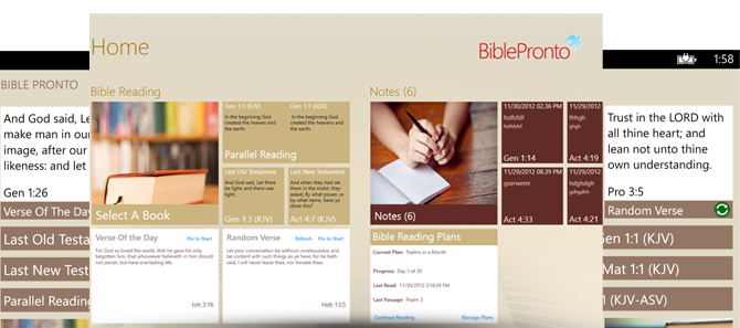 Bible Pronto - Intuitive Home Page
