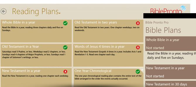 Bible Pronto - Bible Reading Plans