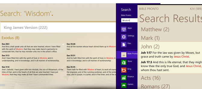 Bible Pronto - Integrated Search